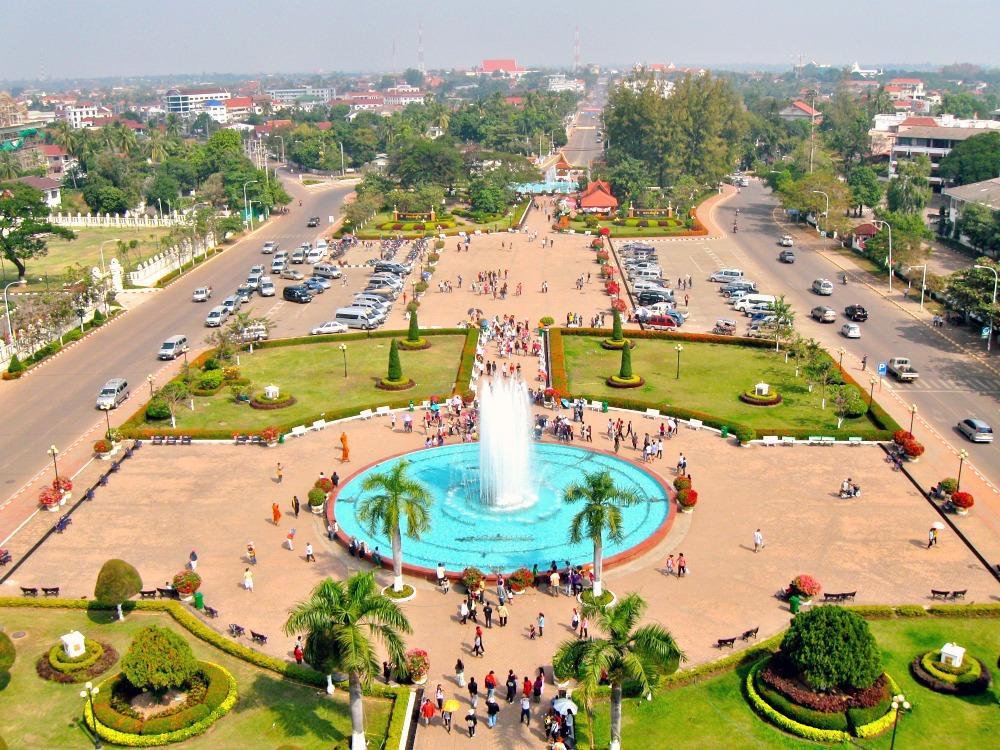 View from Patuxai Arch, Vientiane