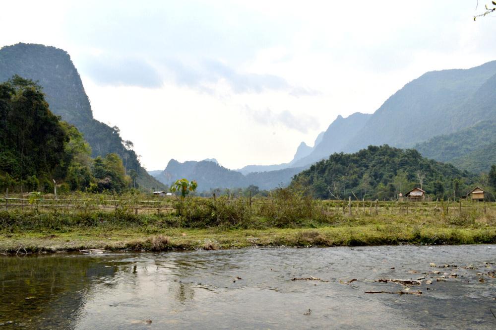 hiking to Huay Bo village, Laos