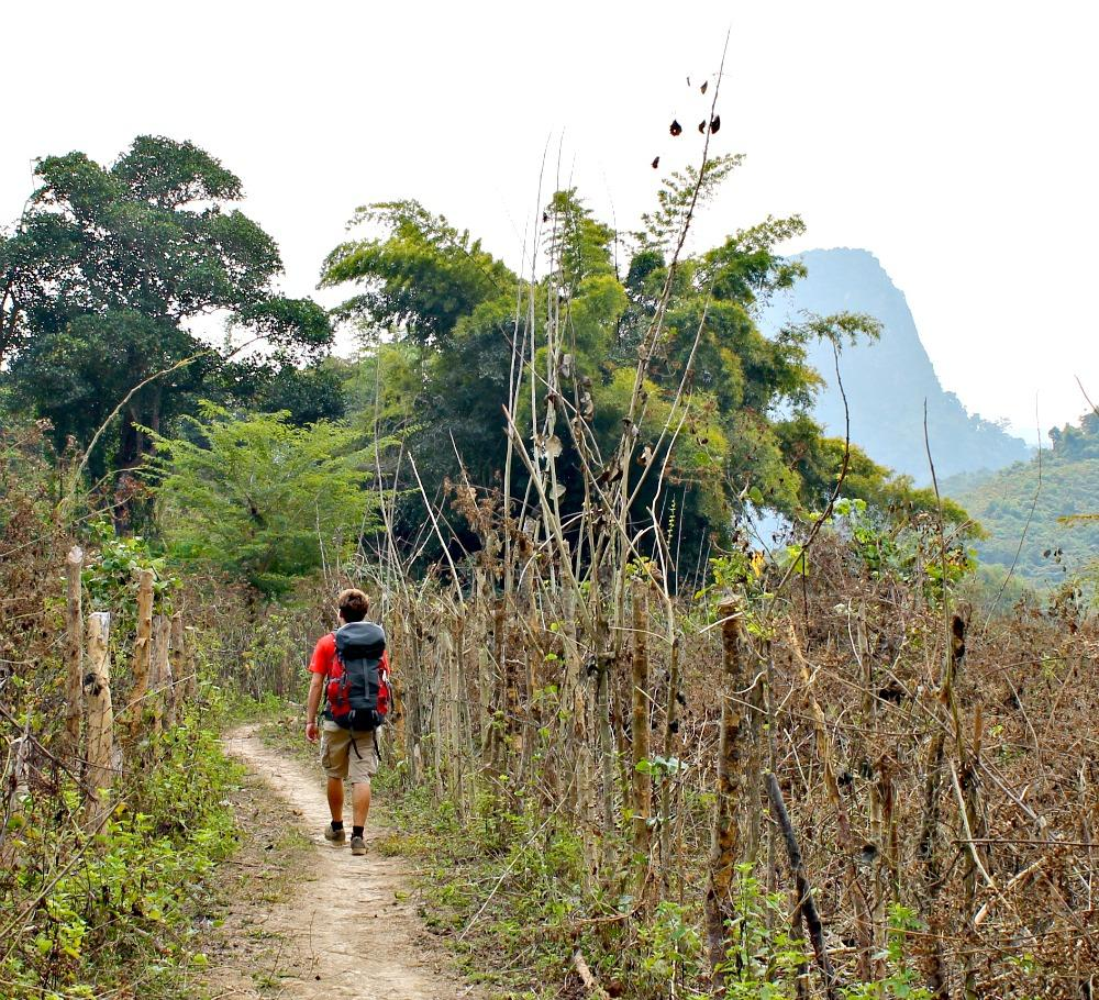 Hiking to Huay Bo village, Laos