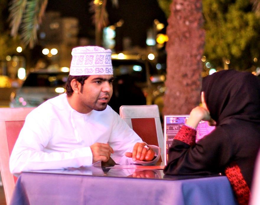 dinner in Muscat, Oman