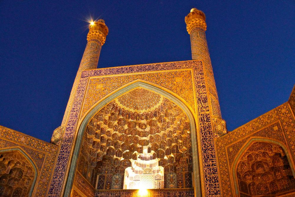 mosque naqsh-e jahan square esfahan, iran