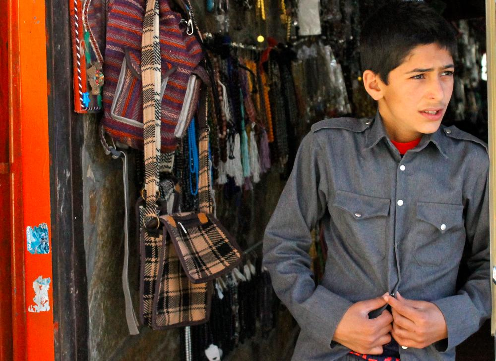 boy in Ouraman Takht, Iran
