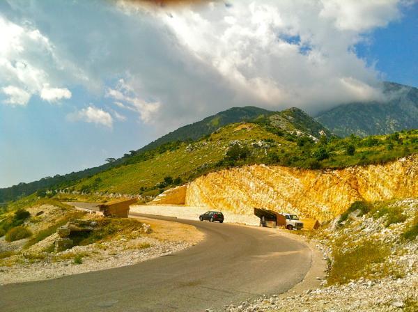 hitchhiking Albania
