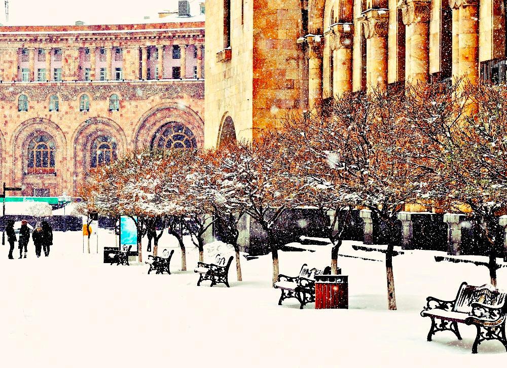 Yerevan Armenia Snow