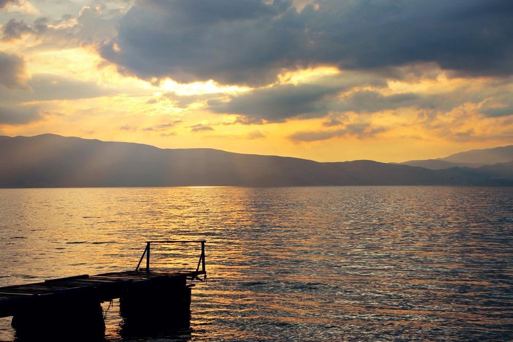 Lake Ohrid, Macedonia sunset