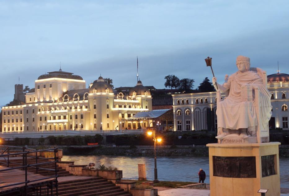 Travel Skopje, Macedonia statues