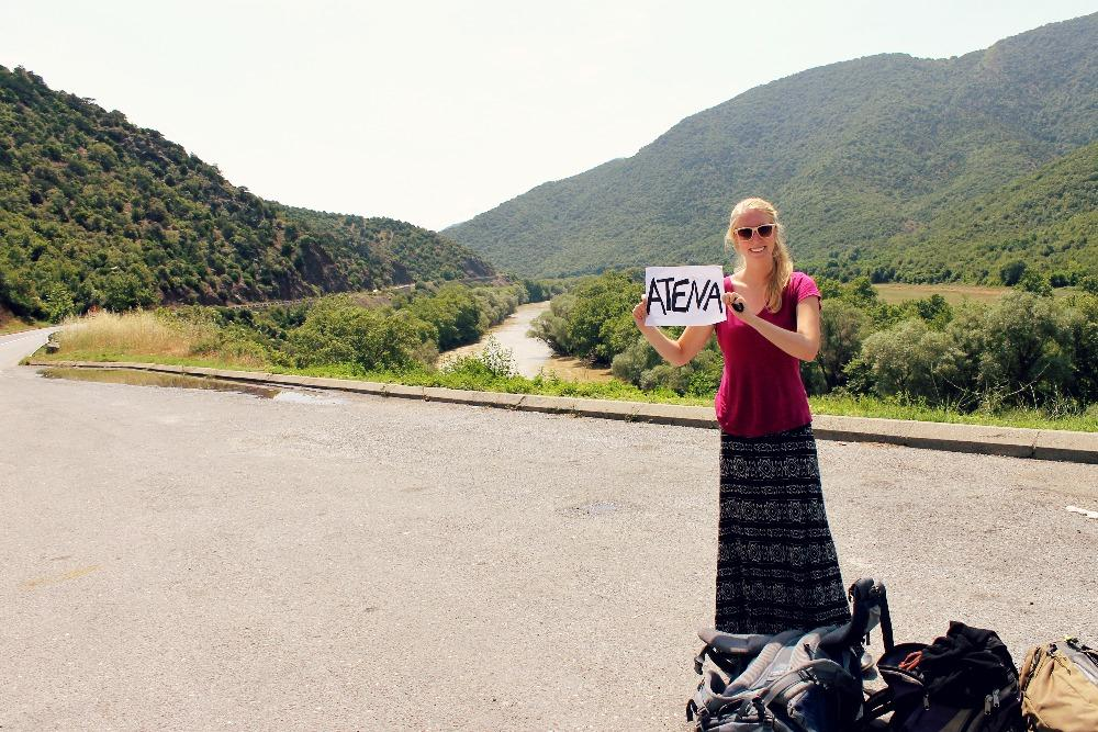 hitchhiking Balkans Macedonia to Greece