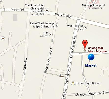 Map Chiang Mai morning market