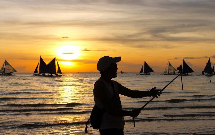 sunset boracay philippines photos