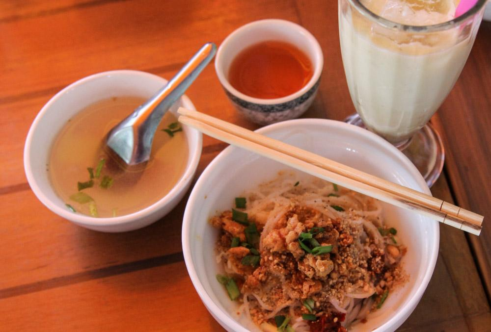 Shan noodles Yangon Burma