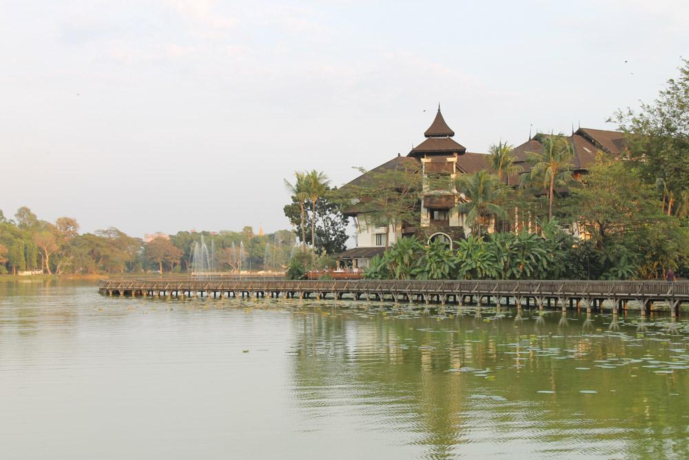 Kandawgyi Lake Yangon Burma Myanmar