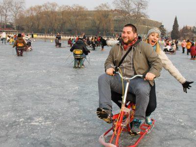 iceskating shichahai beijing china
