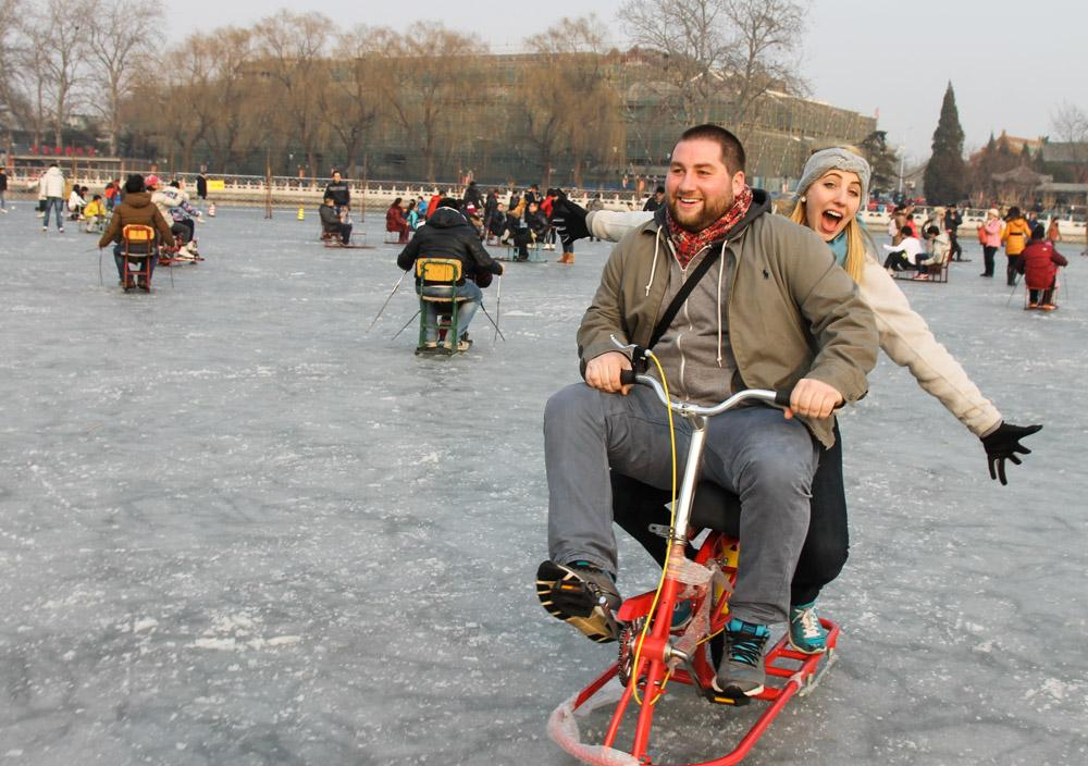 iceskating shichahai beijing china