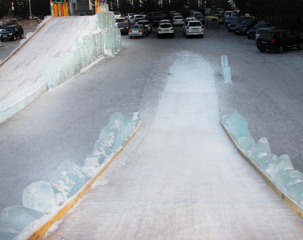 ice festival Soviet Square Ulan Ude