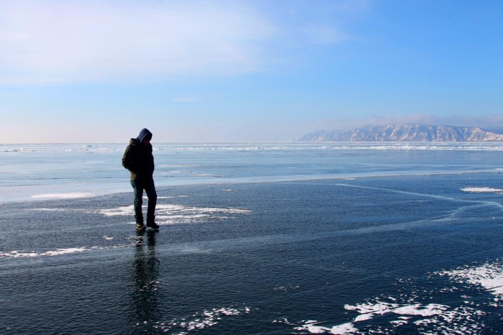 Listvyanka Lake Baikal, Russia winter