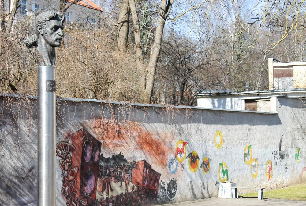 Frank Zappa statue Vilnius