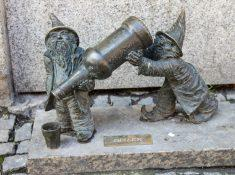 gnomes in Wroclaw, Poland