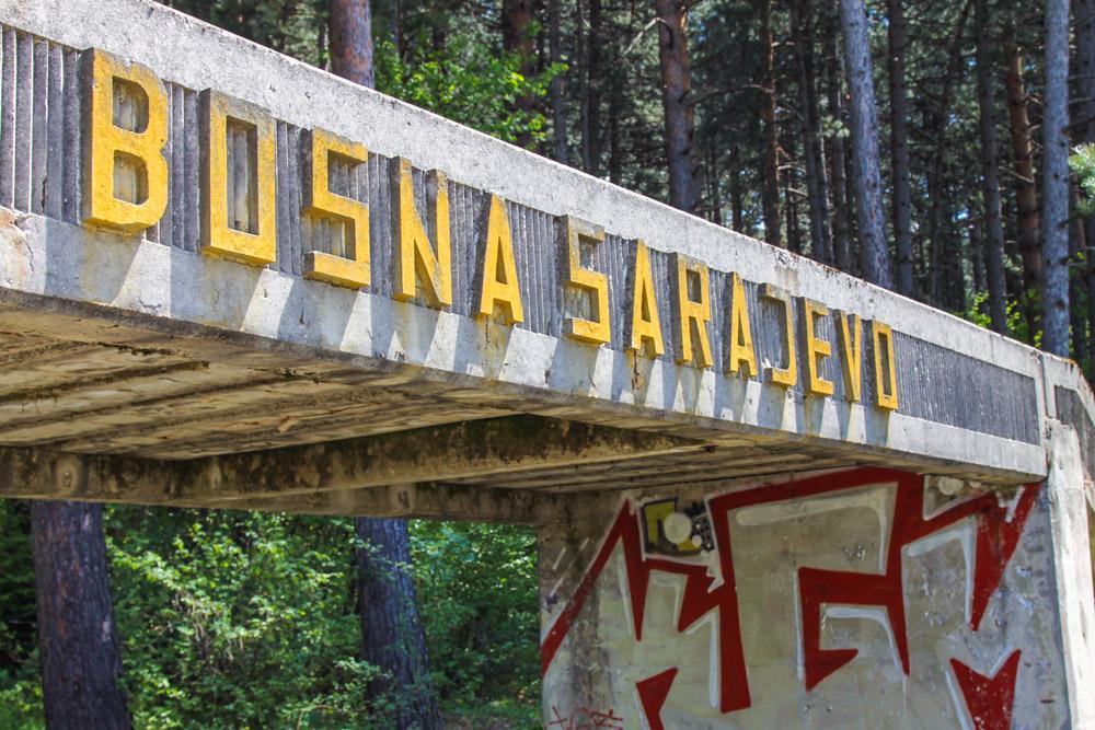 Abandoned Bobsleigh Track Sarajevo Bosnia