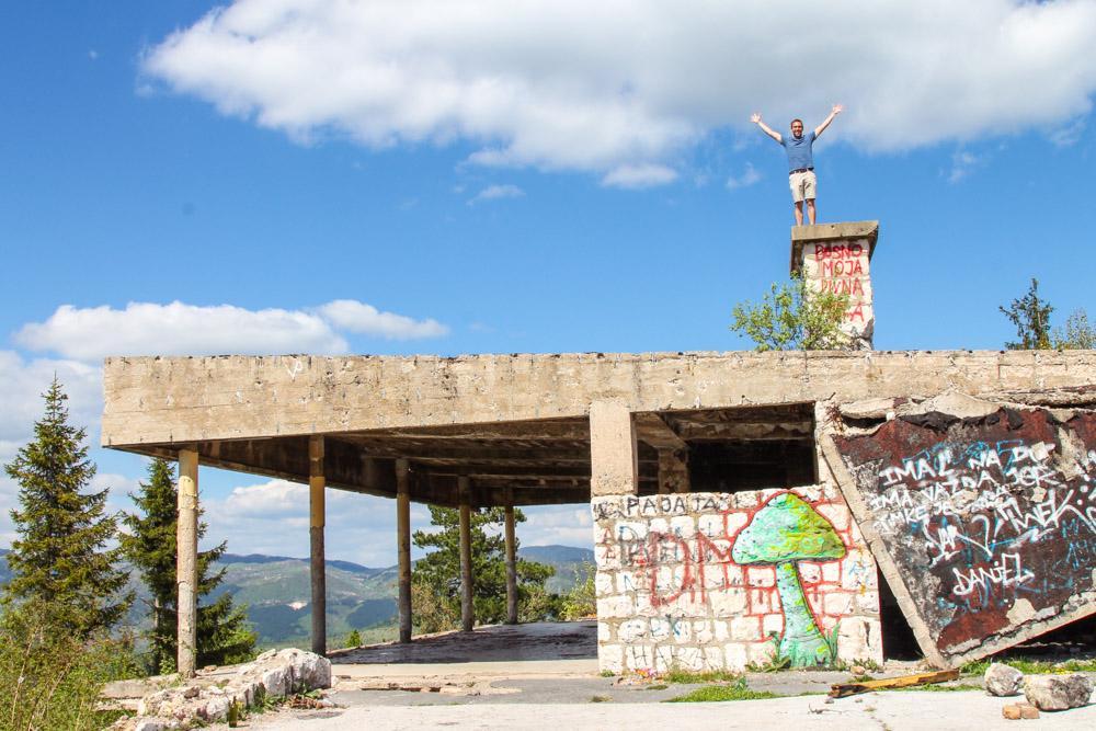 Abandoned building Sarajevo, Bosnia