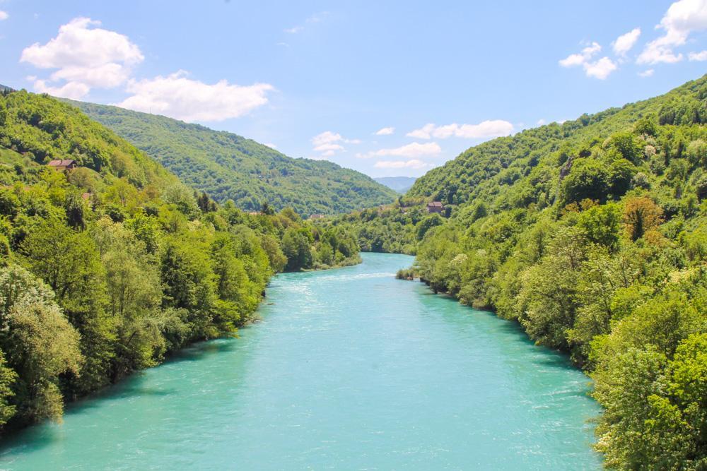 Drina River Brod, Bosnia