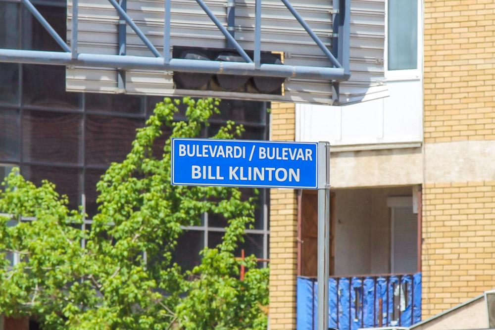 Bill Clinton boulevard, pristina, Kosovo