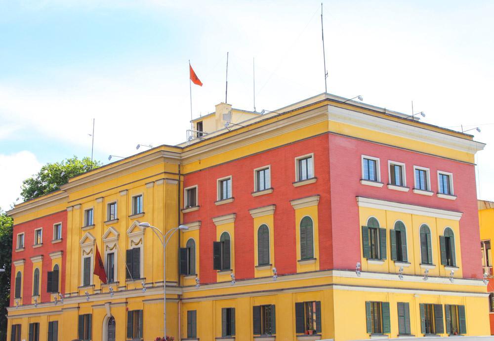 downtown Tirana, Albania