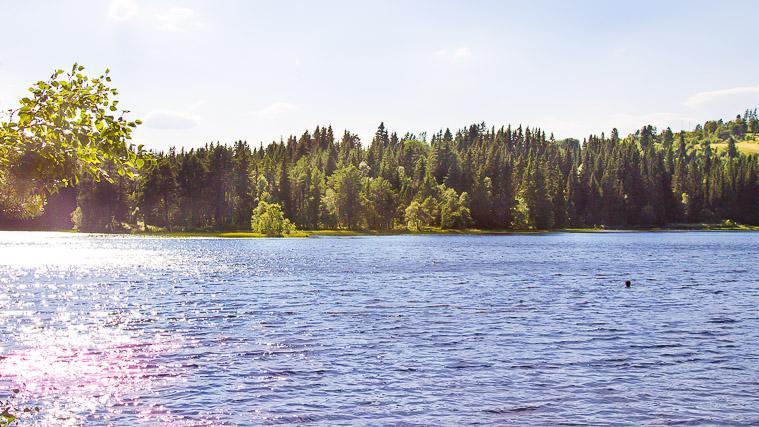 swimming Lake Lian Trondheim