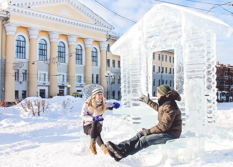 ice house Tomsk, Russia