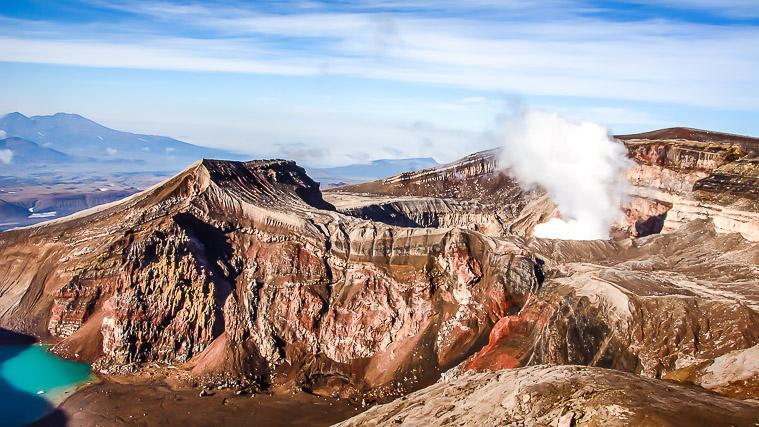 Gorely volcano, Kamchatka, Russia
