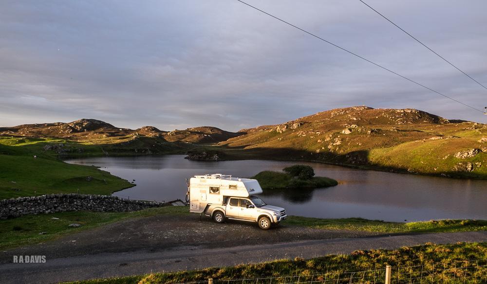 camper van travel Shetland