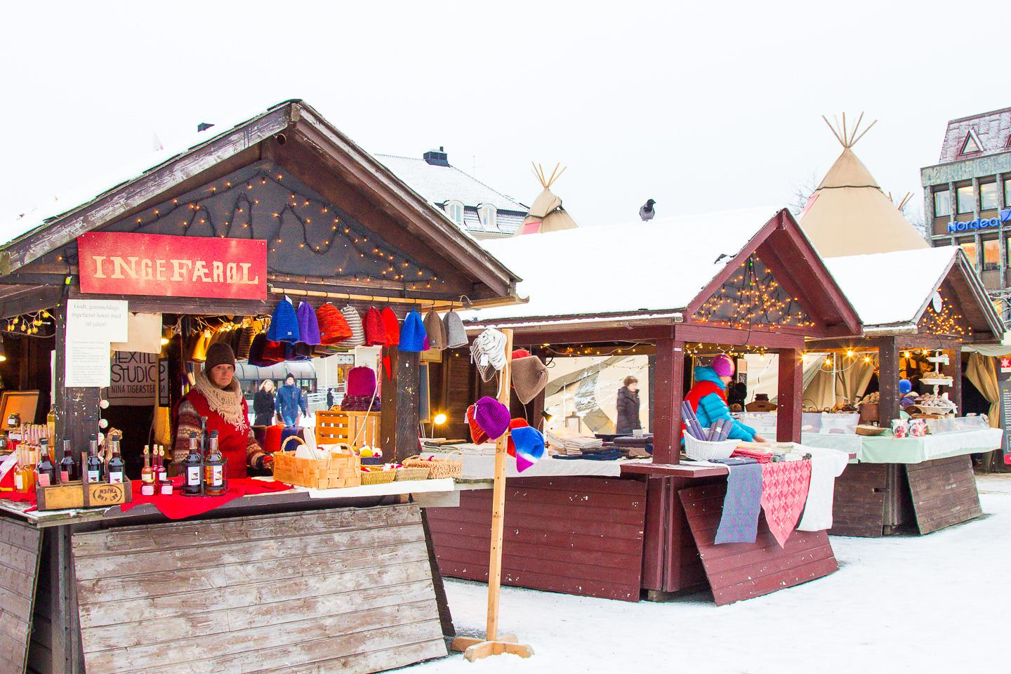 Christmas market Trondheim Norway