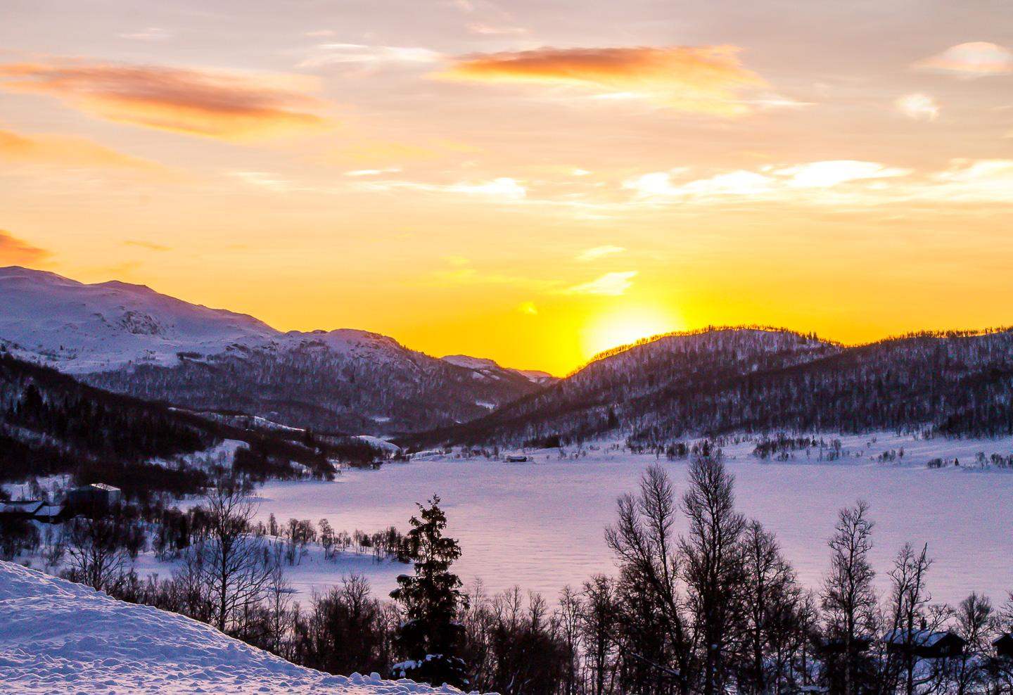 sunrise Rauland Telemark Norway