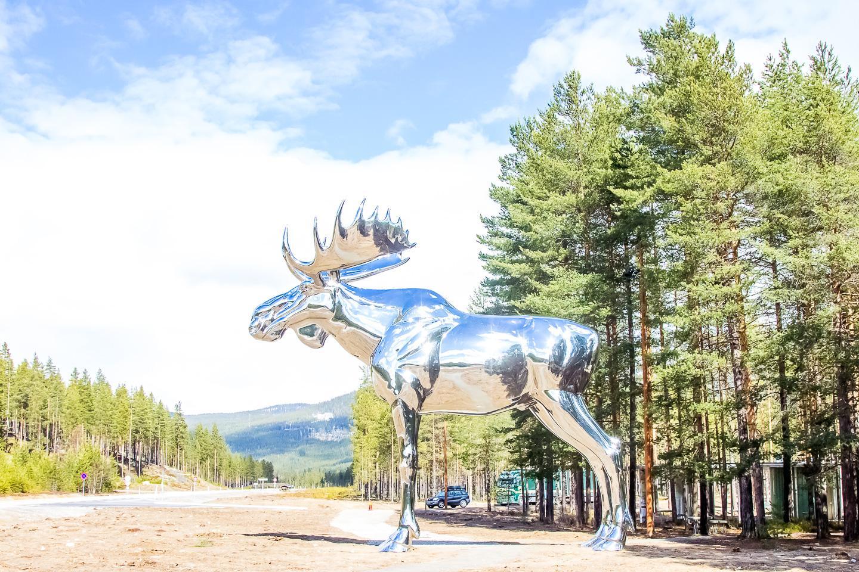 giant moose statue norway
