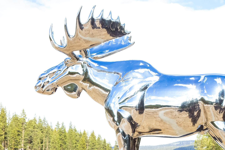giant moose statue norway spring