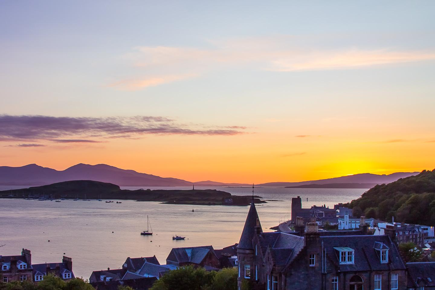 sunset oban scotland