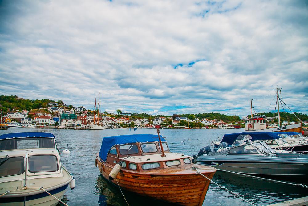 grimstad sorlandet norway boat