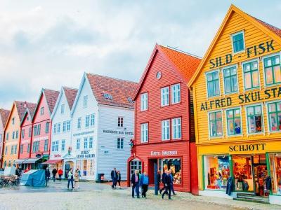 Bryggen downtown Bergen Norway visit
