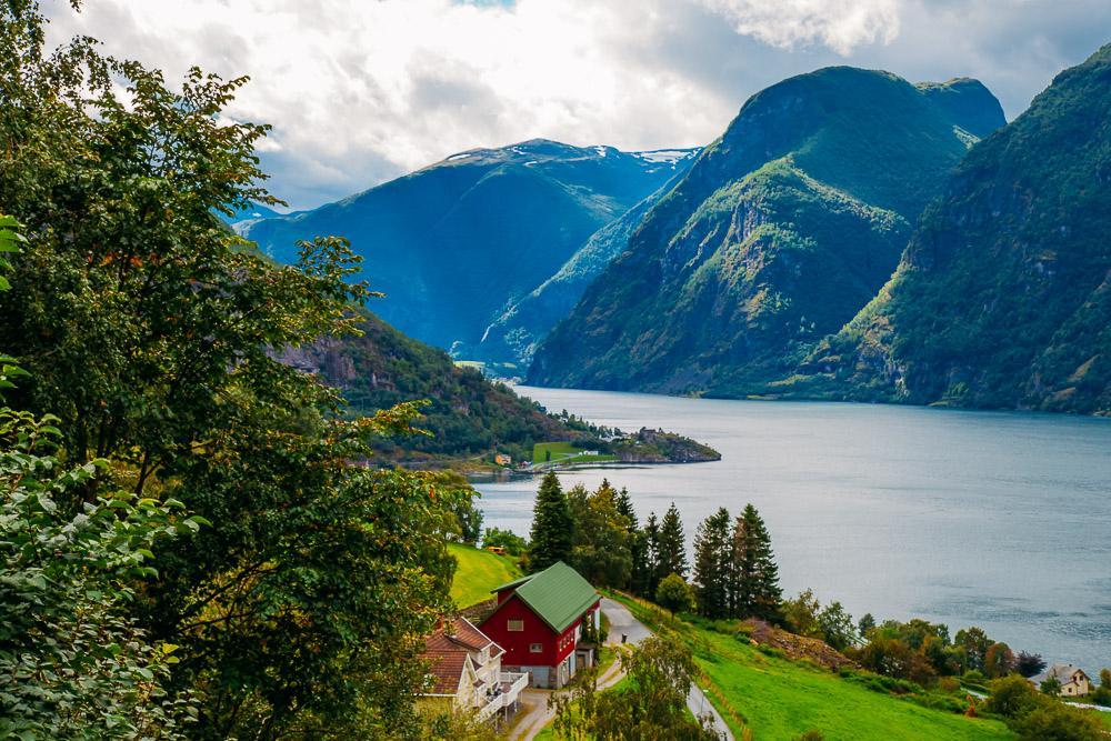 aurlandsfjell view sognefjord bergen norway