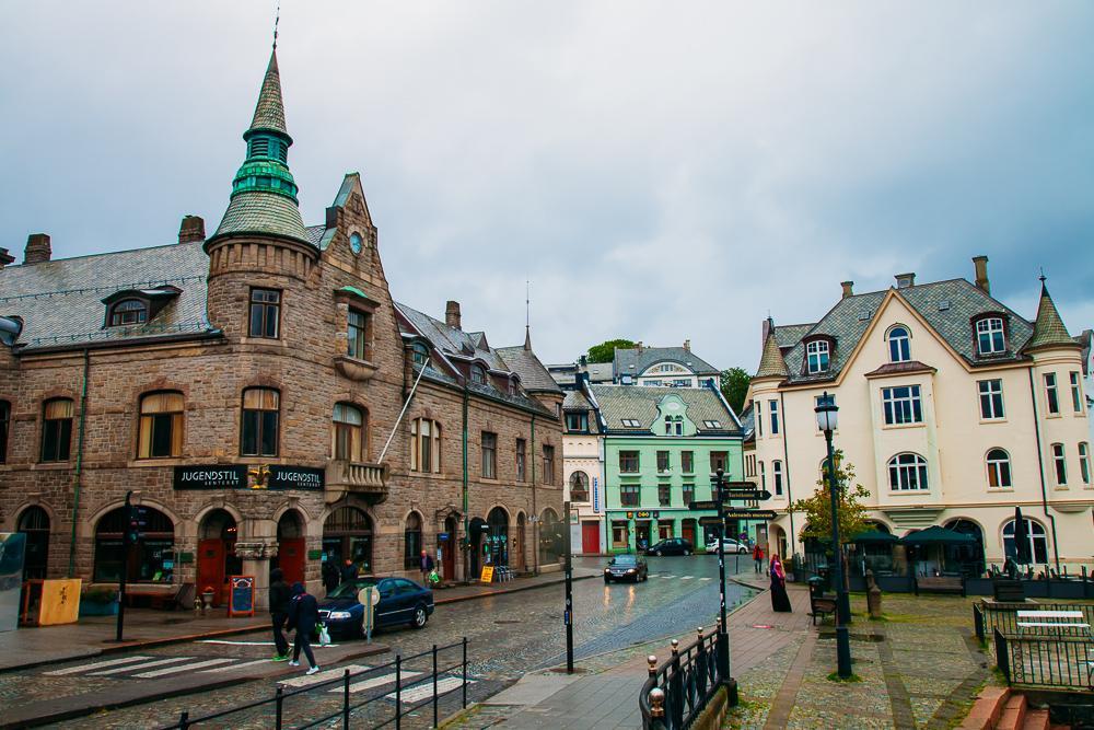 ålesund city center art nouveau architecture