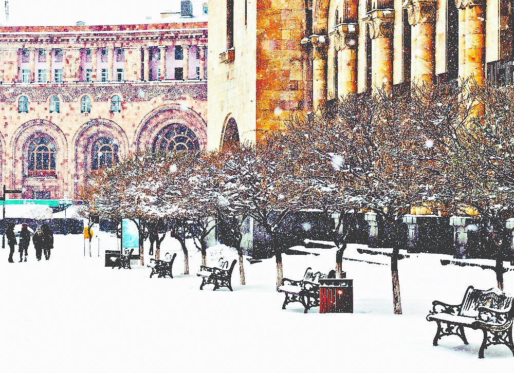 yerevan armenia snow winter