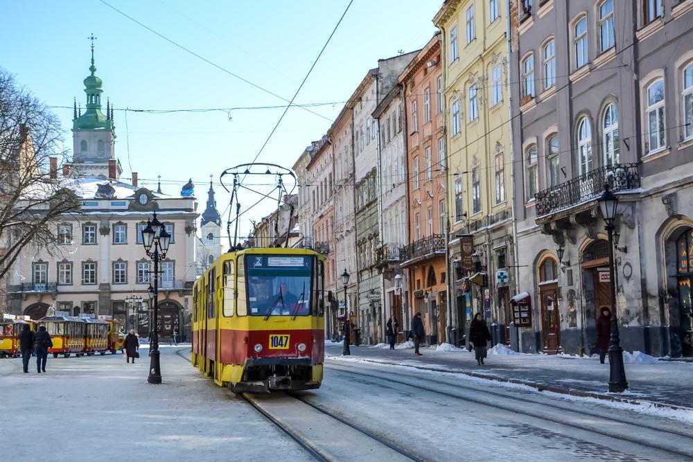 lviv snow winter ukraine
