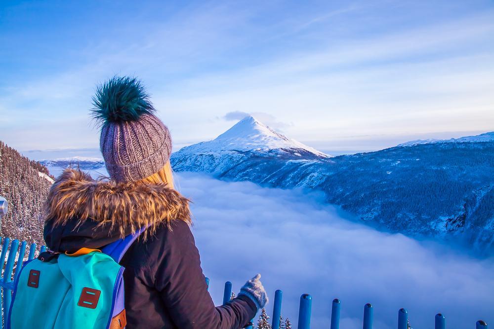 top of Krossobanen view Rjukan Telemark Norway