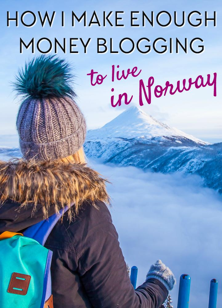 How I make enough money with my travel blog to live in Norway