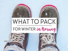 pack winter norway packing list