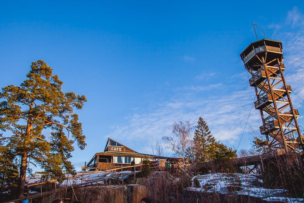 uffe på berget åland cafe view winter