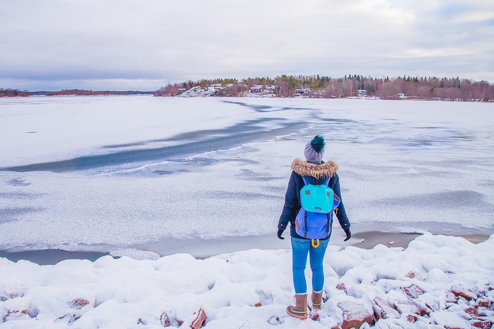 åland islands winter snow frozen