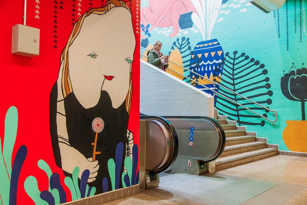 myyrmäki train station street art vantaa finland helsinki