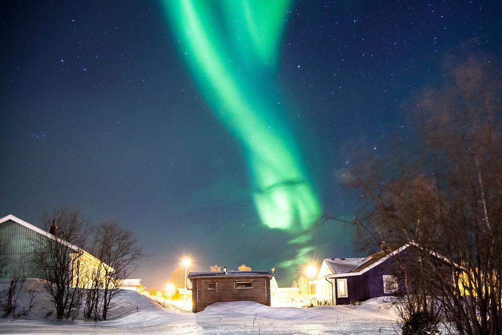 northern lights in abisko sweden lapland photo