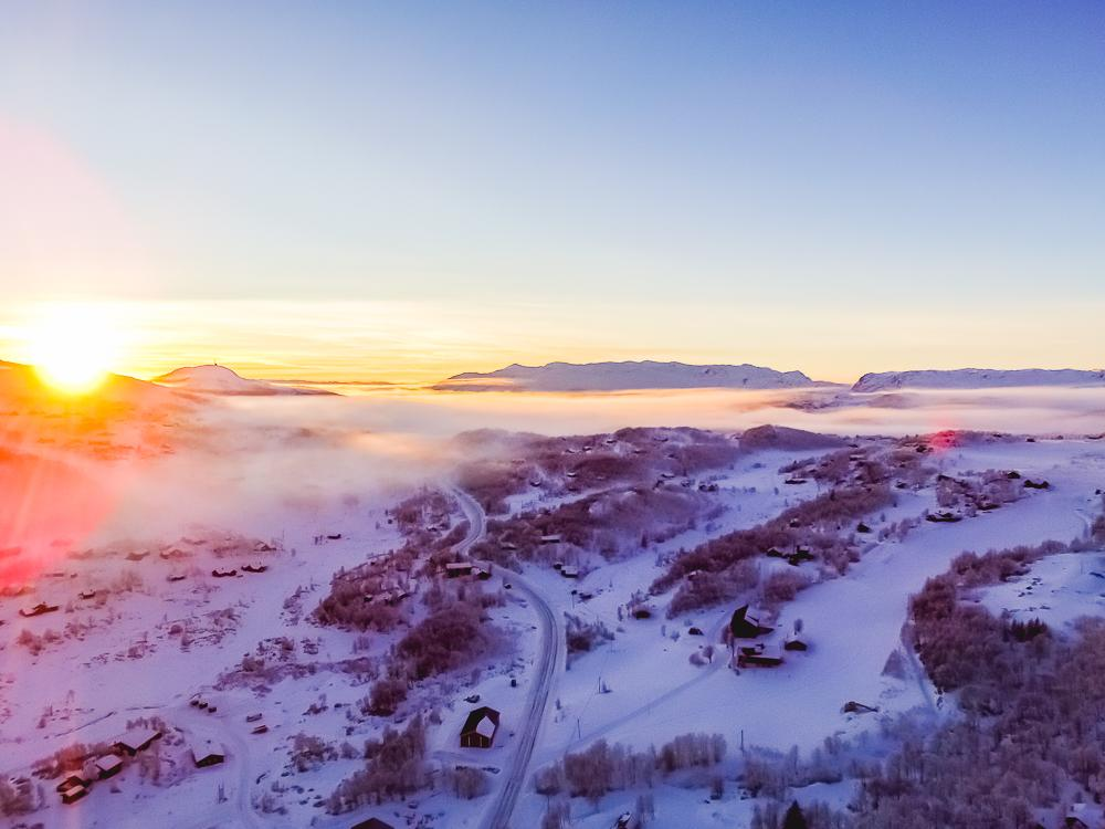 winter rauland telemark snow cabins