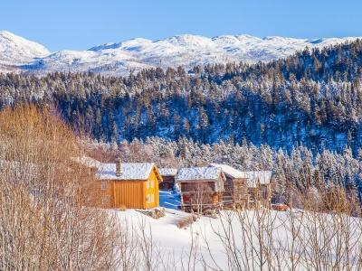 rauland telemark winter in norway snowy mountains